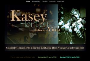 Kasey Horton website landing page